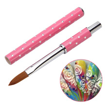 Nail Art Kolinsky Sable Acrylic Brush Pen UV Gel Polish DIY Painting Drawing Carving Pen Manicure Tools Nail Art Tools J11 eval 8 sable paint brush nail tool acrylic nail brush kolinsky uv gel acrylic nail art tool