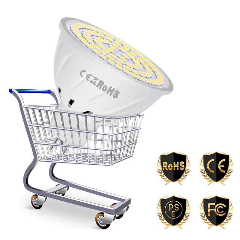 Купить с кэшбэком LED GU10 Spotlight Bulb Corn Lamp MR16 Lampada LED Lamp 220V GU5.3 Spot light E27 Bombillas Led E14 Ampoule B22 led Bulb 2835SMD