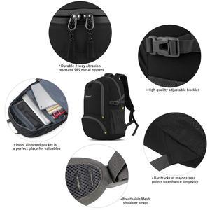Image 3 - Gonex 30L Ultralight plecak składany plecak miasto torba do szkoły podróży turystyka odkryty Sport czarny 210D Nylon 2019 mężczyzna kobiet
