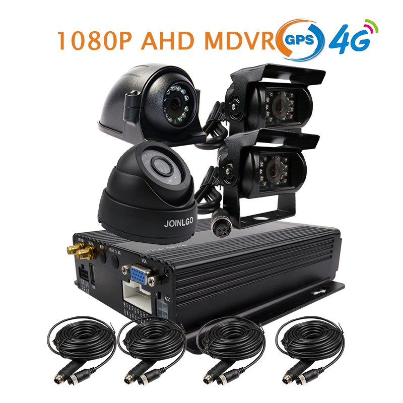Free Shipping 4 Channel GPS 4G 2.0MP 1080P AHD 256GB SD Car DVR MDVR Front Rear Side View Dome Car Camera for Truck Van Bus 4 channel 256g sd car vehicle dvr mdvr video recorder kit cctv rear view camera dome camera for truck van bus free shipping