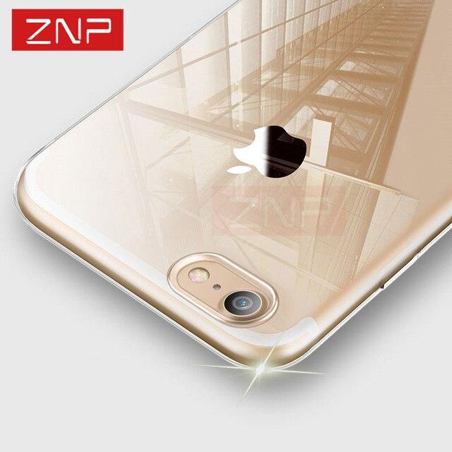 ZNP ультра тонкий мягкий прозрачный чехол для iphone 8 8 Plus Clear силиконовые Full Cover для iPhone 8 плюс 8 чехол для телефона Капа Coque