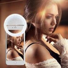 Clip on cep telefonu Selfie halka ışık led video ışığı gece selfie ışık iPhone Samsung Xiaomi için akıllı telefon