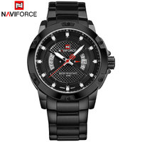 NAVIFORCE Brand Men Sports Watches Man Leather Digital Watches Male Quartz Wristwatches Drop Shipping Wholesale Reloj Hombre