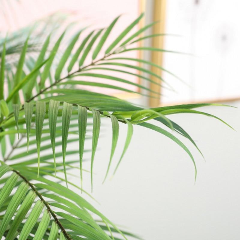 88 CM Green Artificial Palm Leaf Plastic Plants Garden Home Decorations Scutellaria Tropical Tree Fake Plants