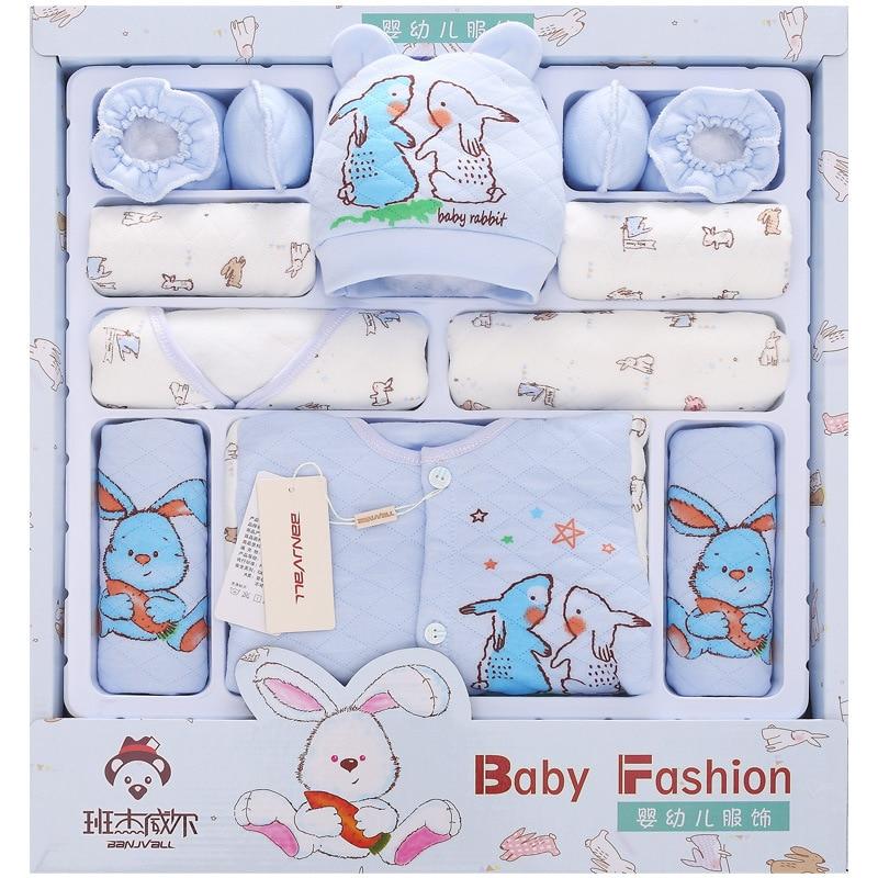 Rabanete coelho caixa de recém-nascidos espessamento de Algodão Conjuntos de Roupas de Outono Bebê Recém-nascido Do Bebê Lua Cheia Materna e Infantil Supplie