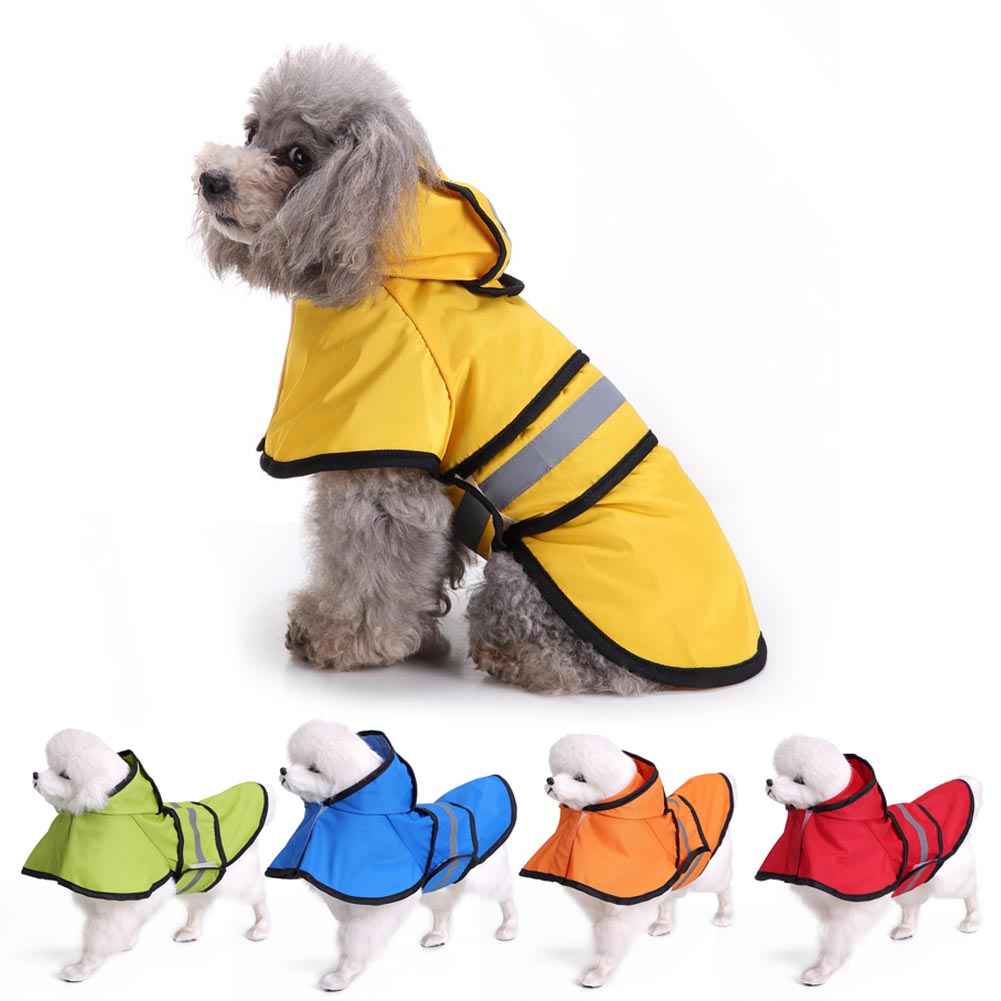 Raincoat Jacket Reflective Fleece Liner Warm Hood Drawstring for Large Dog Golden Retriever Dog XH8Z