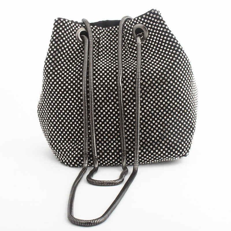 Bolso de noche bolso de lujo para mujer bolsos de hombro bolsas con diamantes para dama boda fiesta bolsa pequeña bolsa de satén bolsa femenina