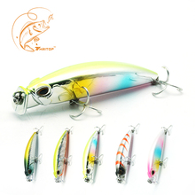 цена на Thritop New Minnow Fishing Lure Artificial Bait 8cm 10g TP068 Strong Hooks 3D Eyes Fishing Tackle Accessories Hard Bait