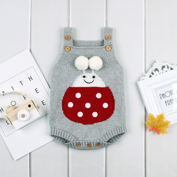 Ladybird Knitted Baby Romper