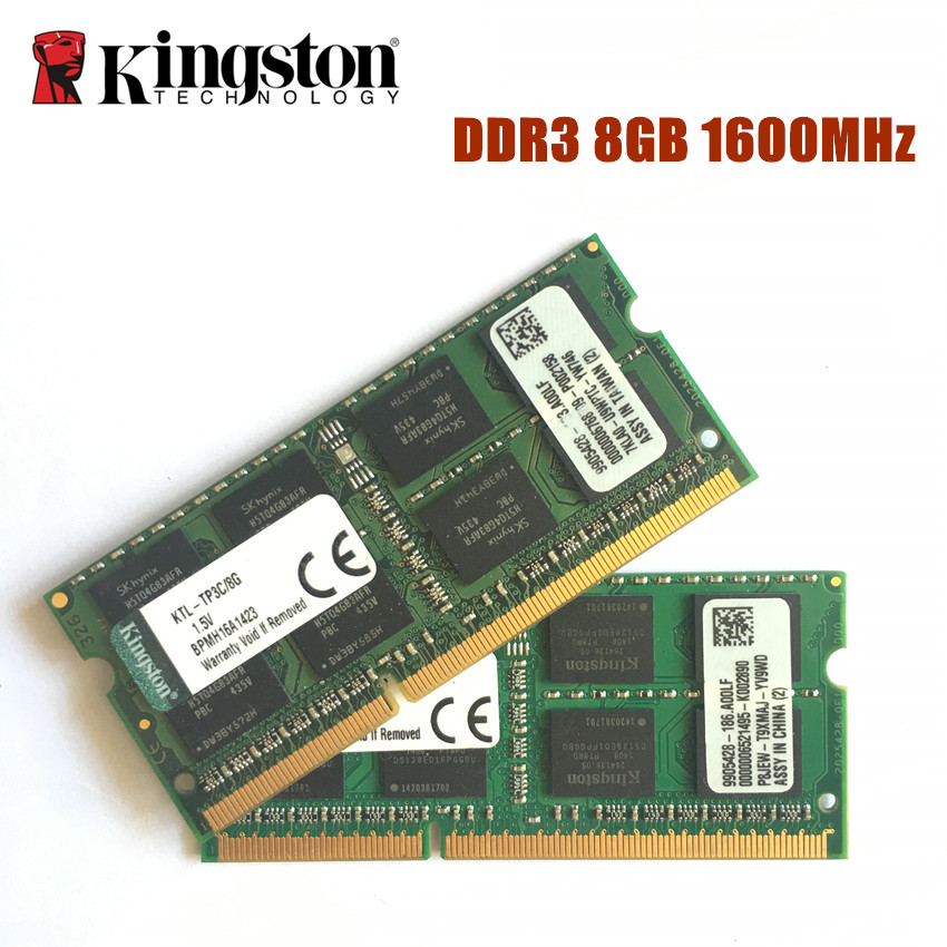 Free Shipping Kingston 8GB PC3 12800S DDR3 1600Mhz 8gb Laptop Memory 8G PC3 12800S 1600MHZ Notebook