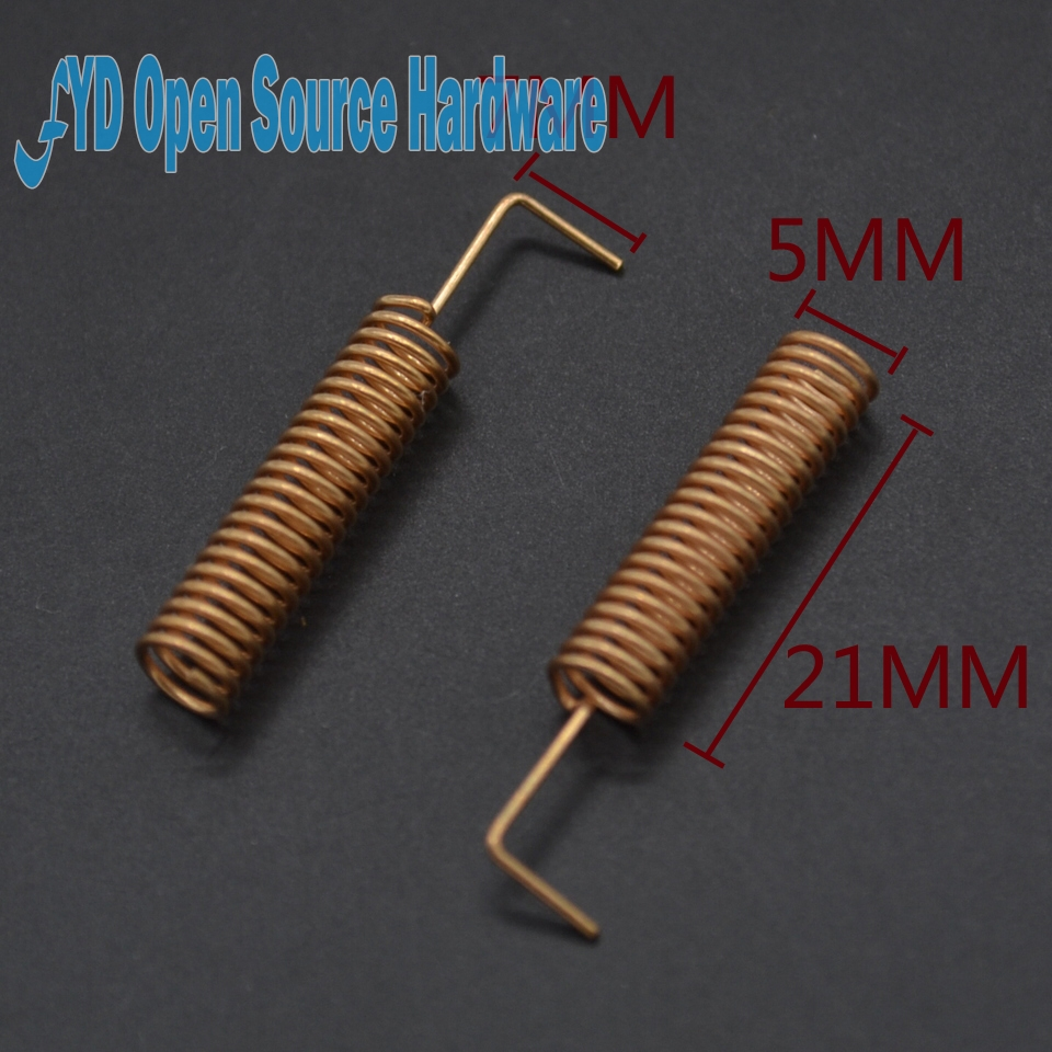 10pcs 433MHz Corner Spring Antenna 433 Frequency High Performance 433M Spring Copper Antenna Built-in Antenna