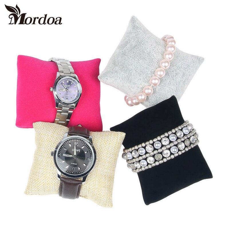 Mordoa 2017 20pcs Small Linen Flannelette Bracelet Watch Pillow Jewelry Displays