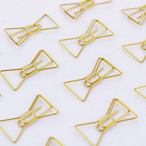 Image 3 - TUTU 30PCS/LOT high quality Paperclip Book Mark Bow Clip Accessories Bookmark Bookend Clip Metal Paper Clip Gold Paperclip H0030