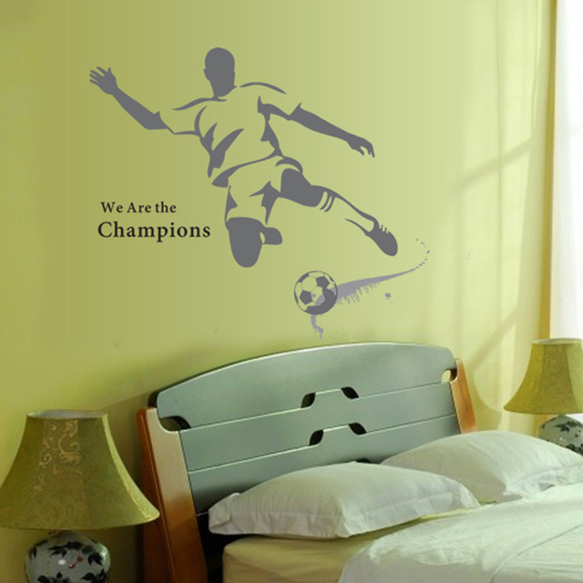 Buy 2016 New Large Soccer Ball Football Wall Sticker For Boy
