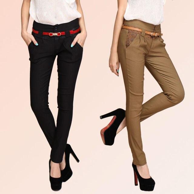 los delgadas lápiz harem elásticos Las Pantalones Moda empalmados Mujeres pantalones pantalones impresos 2016 de de P6BnvZ