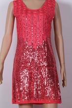 new fashion Top Quality Diamond Club dress sequin beading lady dresses dropshipping LM6021ES