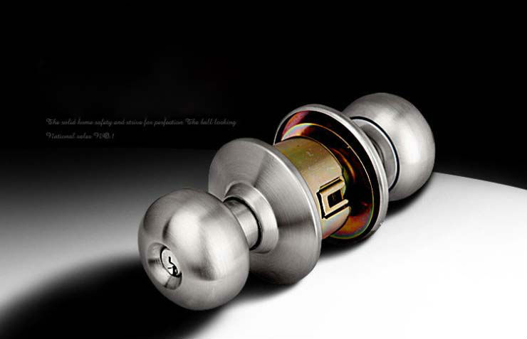 Free Shipping, Stainless Steel Bathroom Ball lock, cylinderical lock,Round Lock,Cylindrical Knobsets,ball lock,Backset is 70mm new indoor door lock cylindrical ball with key copper lock core bedroom porter lock 304 stainless steel round washroom door lock