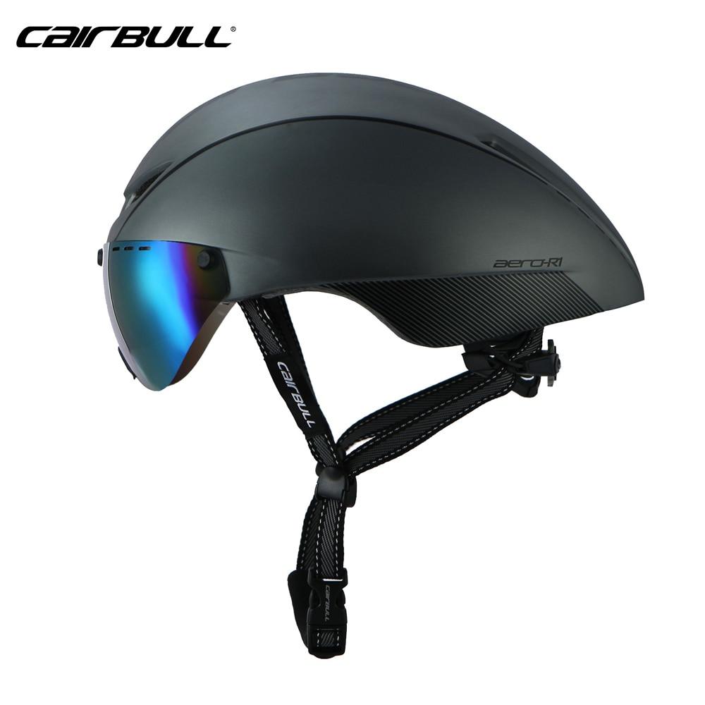 Casque de cyclisme pneumatique lunettes Triathlon tri aero casque de vélo avec lentille magnétique course route TT casque de vélo Casco Ciclismo