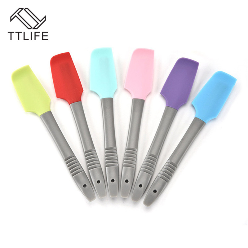 TTLIFE Baking Tools Spatula for Cake Silicone Spatula Baking Pastry Kitchen Cream Mixer Ice Cream Scoop Cream Scraper Tools in Baking Pastry Spatulas from Home Garden