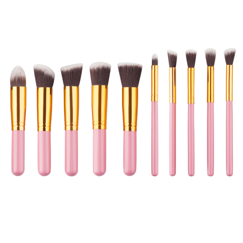10pcs Professional Makeup Brushes Set Cosmetic Beauty Foundation Powder Blending Brush Pincel Maquiagem Tools Kit free Pouch Bag