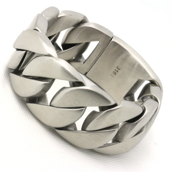 333g Huge Heavy Dull Polish Cool Man Bracelet 316L Stainless Steel Fashion Biker Style Amazing Popular