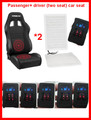 2 seats for driver and Passenger/ Universal fiber car seat heater system +five speed dual wheel switch