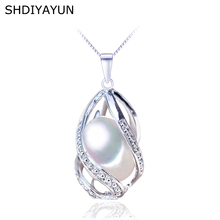 SHDIYAYUN Pearl Necklace Pearl Jewelry 925 Sterling Silver For Women Freshwater Pearl Cage Pendants Natural Gemstone Pendant real new natural freshwater pearl necklace with 925 sterling silver pendant necklace for women natural pearl jewelry
