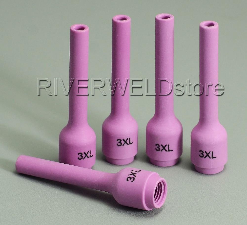 5pcs TIG Long Alumina Ceramic Nozzle Cup 796F75 3XL For TIG Welding Torch Consumables SR PTA DB WP 9 20 25 Series