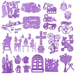 Lavender Flowers Door Kettles Excavator Cross Metal Cutting Dies For DIY Scrapbooking Embossing Paper Cards Crafts New Dies 2019(China)