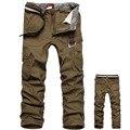 2016 новое мужчины брюки-карго армия армия брюки 100% хлопок хаки / / серый / черный большой размер 30 - 44 высокое качество брюки