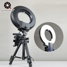 ALUMOTECH 24W 220V 240V LED Light Tripod Stand Bracket for Smartphone Photography Selfie Video Studio Lighting
