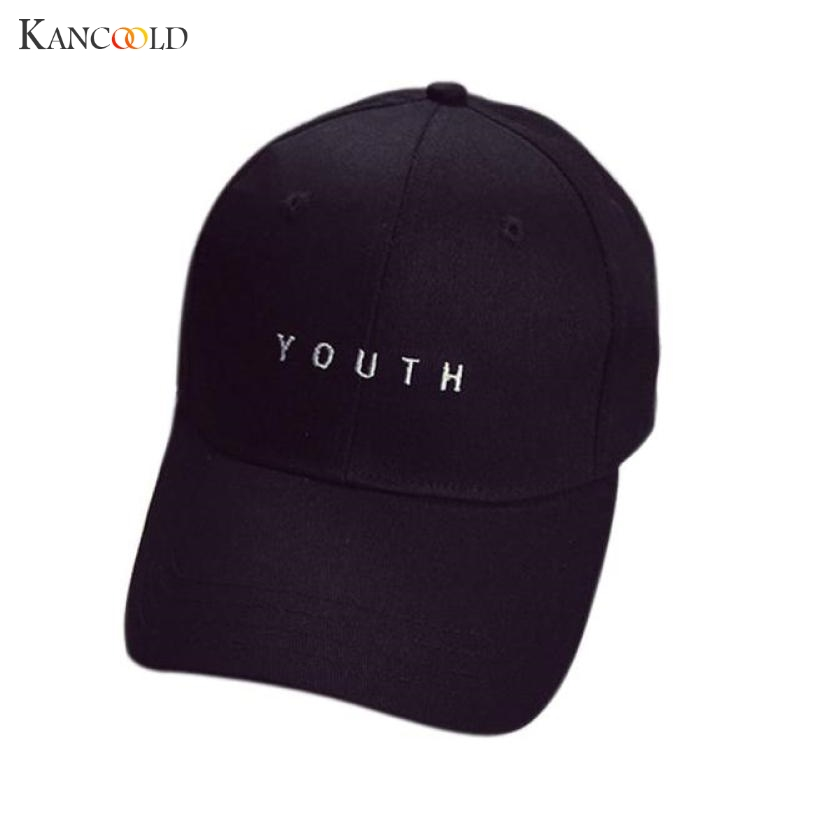 2017 Hot Sale Hat FashionYOUTH Letter Embroidery Cotton Baseball Cap Boys Girls Snapback Hip Hop Leisure Flat Unisex Hats F273 fashion rivets cotton polyester fiber men s flat top hat cap army green