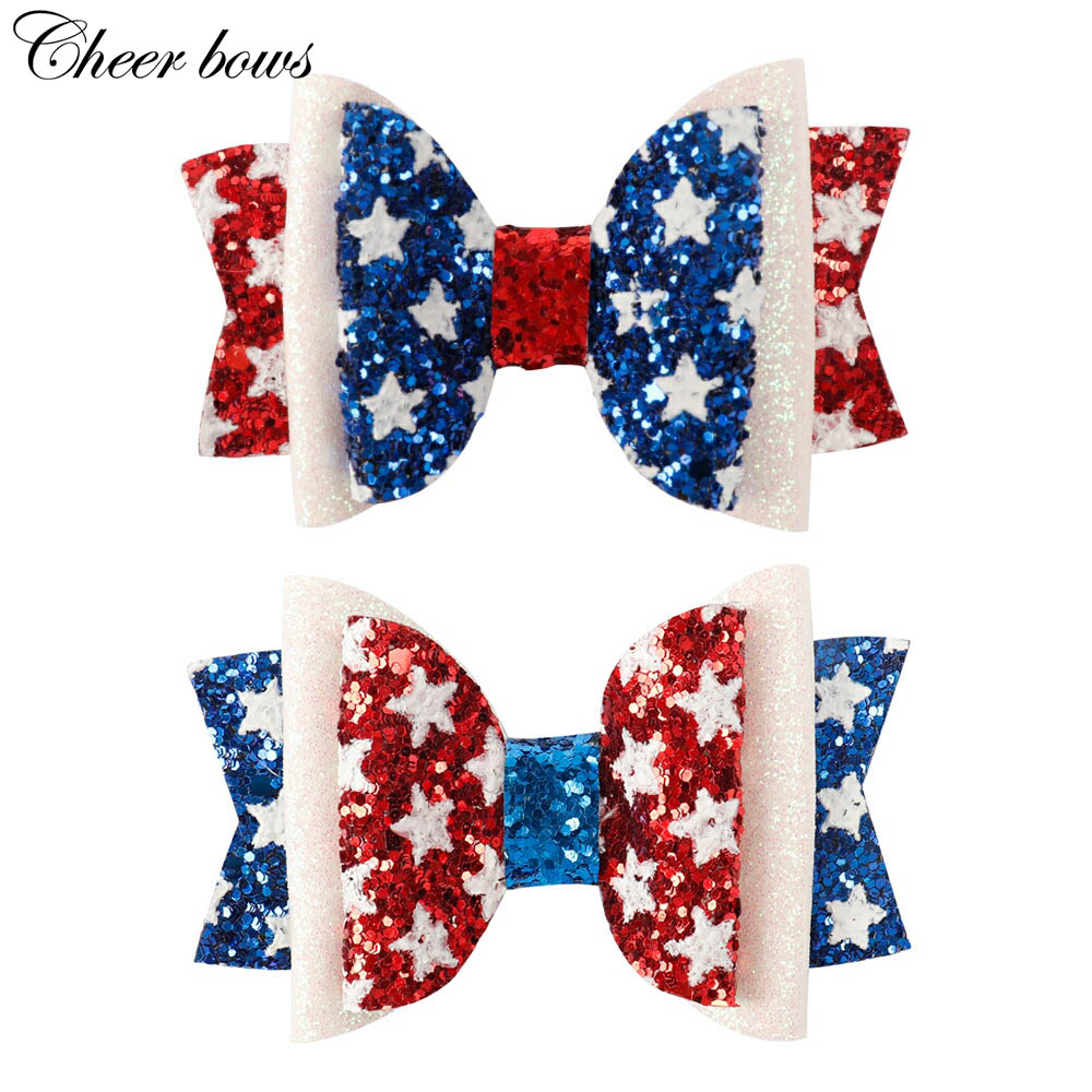 480 Pieces America 4th of July Acrylic Star Patriotic Decoration Star Beads for Celebration Decoration Supplies Red Blue and White