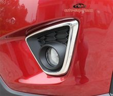 In Acciaio Inox Anteriore Nebbia copertura della Lampada della Luce trim Bicromato di Potassio PER Mazda CX5 CX-5 2013 2014