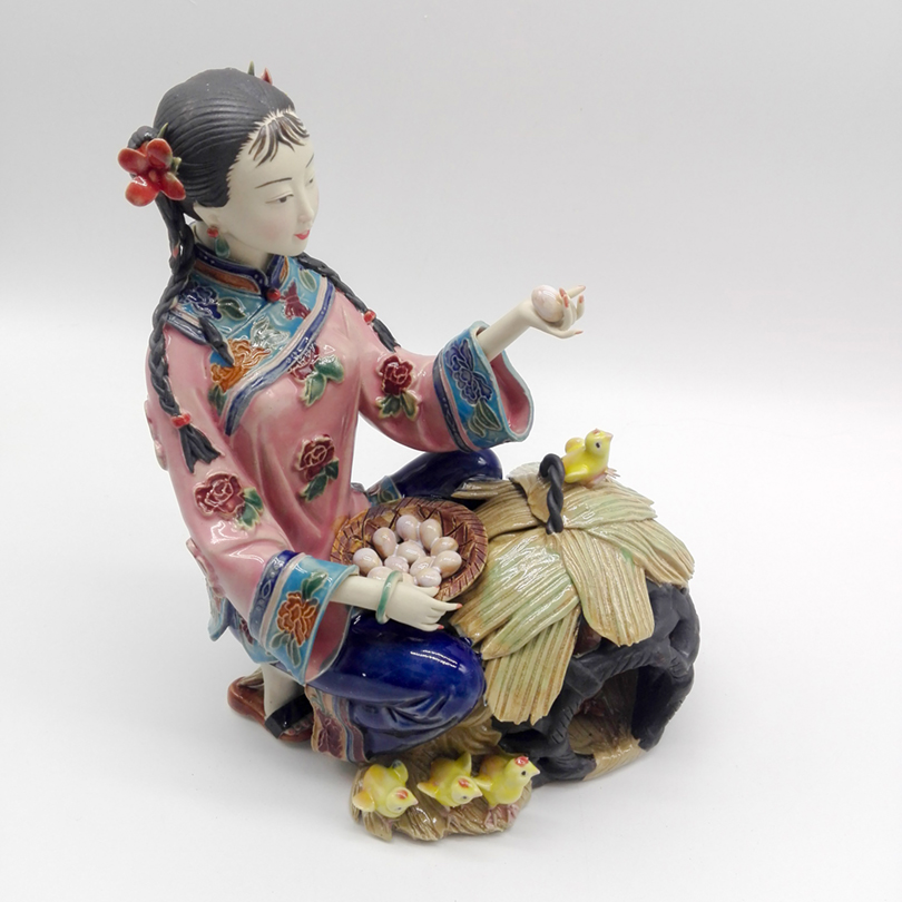Free shipping Ceramic Marvel Figure Statue Chinese Antique Imitation Collectible Sculpture Home Decoration Accessories in Statues Sculptures from Home Garden