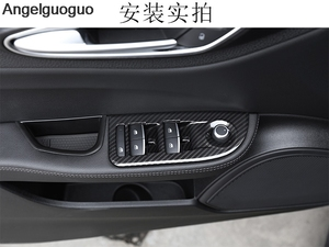 Image 4 - 4 pcs Carbon Fiber Style ABS Car Window Lift Switch Button Frame Cover Trim For Alfa Romeo Giulia 2017 2019 LHD