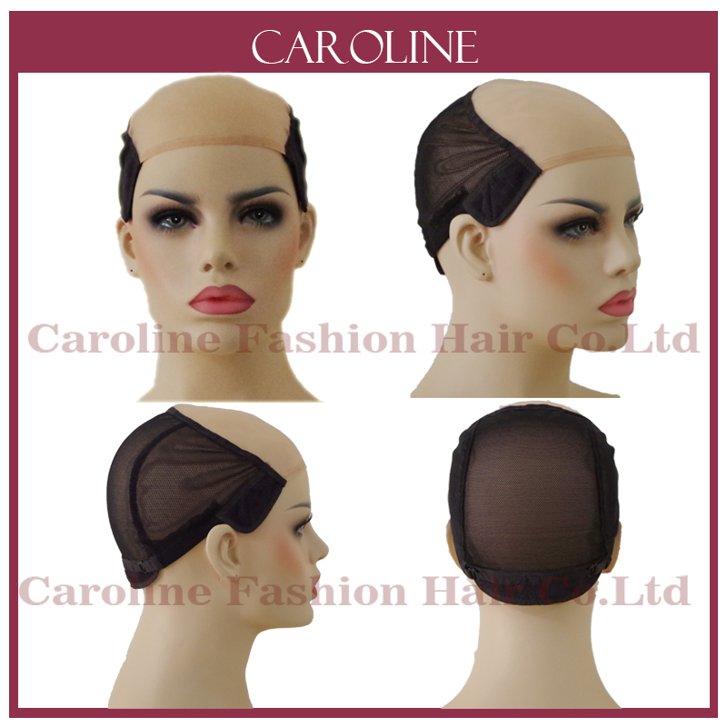 Gorro de Peluca de encaje sin pegamento para hacer pelucas con correas ajustables gorras tejidas para mujeres Red de pelo y pelucas Easycap venta al por mayor 6034