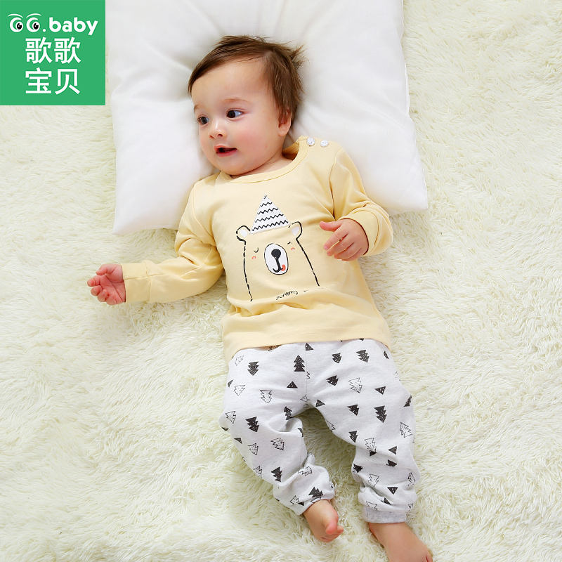 New Born Baby Boy Pajamas Pants Outfit Long Sleeve Clothes Boy Suit Infant Clothing Set Newborn Baby Girl Sets Pajamas Sleepwear cute newborn infant baby girl boy long sleeve top romper pants 3pcs suit outfits set clothes