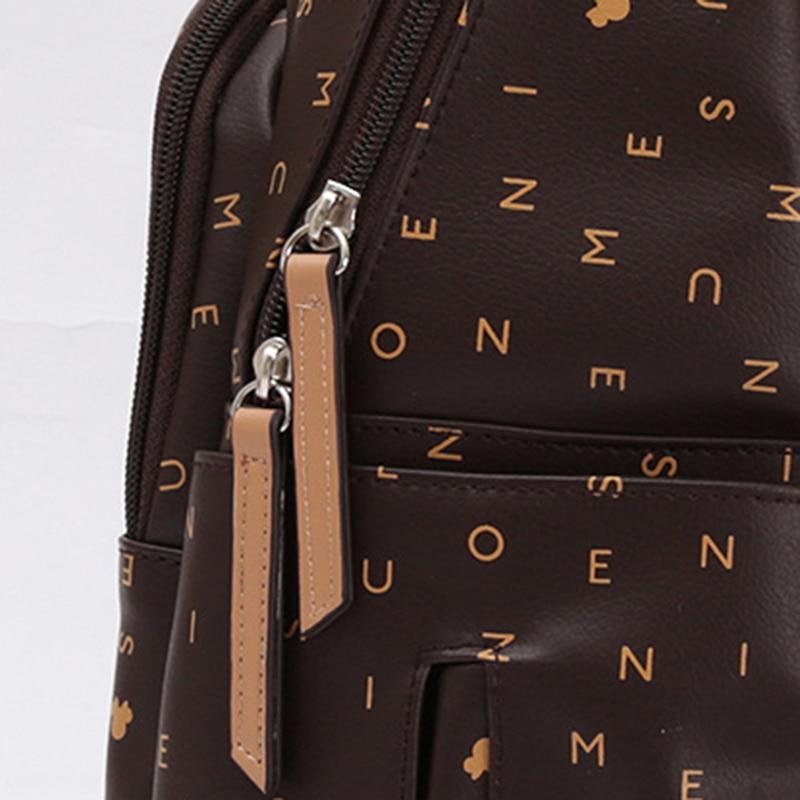 Disney PU Leather Large Capacity Insulation Bags  Cartoon Pattern Kid Fashion USB Multifunctional Diaper Bag Travel Backpack