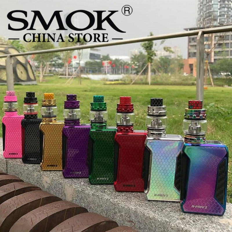 все цены на SMOK H-Priv 2 Kit 225W H-Priv 2 Box Mod 6ml TFV12 Big Baby Prince tank Vaporizer with TFV8 Baby cores Electronic Cigarettes Kit