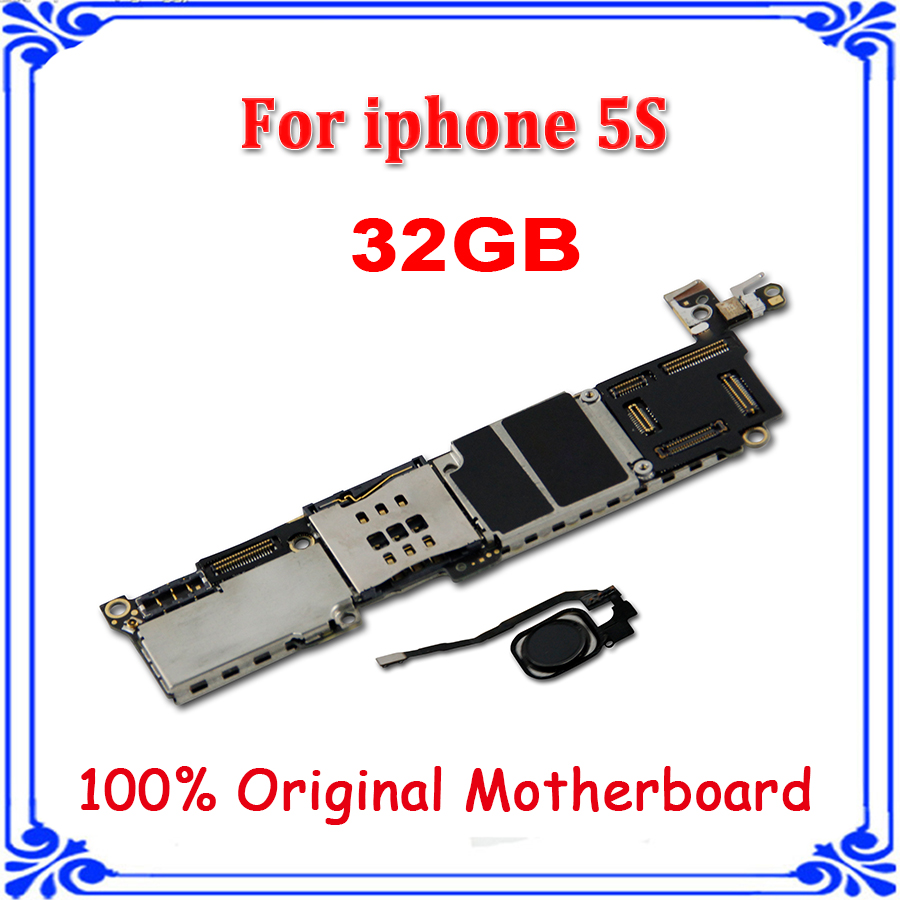 For Iphone 5s 32gb Black Logic Board With Fingerprint Motherboard Unlocked Mainboard Ios System Good Working Free Shipping In Mobile Phone Antenna From