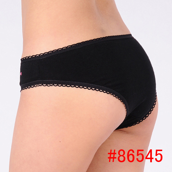 Aliexpress.com : Buy 95% Cotton Panty Lace Black Cotton Ladies ...