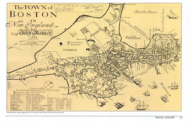Map Of England Vintage.The Town Of Boston In New England Map Classic Vintage Retro Kraft