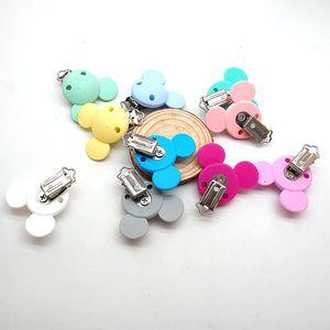 Image 3 - Chenkai 10個シリコンおしゃぶりダミーおしゃぶりチェーンホルダークリップdiyベビーマウス動物看護おもちゃアクセサリーbpaフリー