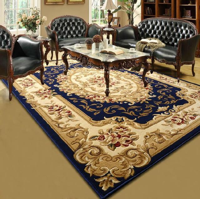 Elegant European Style Hand Carved Wool Texture Carpet For Living Room And Bedroom Bedside 80x150cm Area Rugs