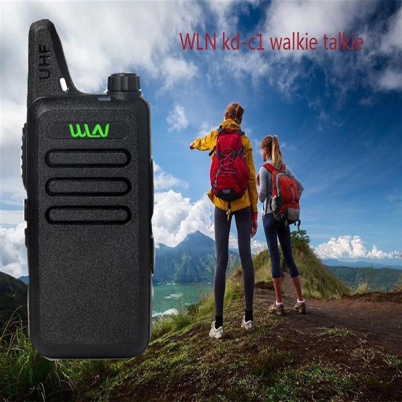 imágenes para 2 UNIDS WLN KD-C1 Mini Walkie Talkie UHF 400-470 MHz de Dos Vías de Radio de Jamón CB Communicador Portátil de Mano transceptor
