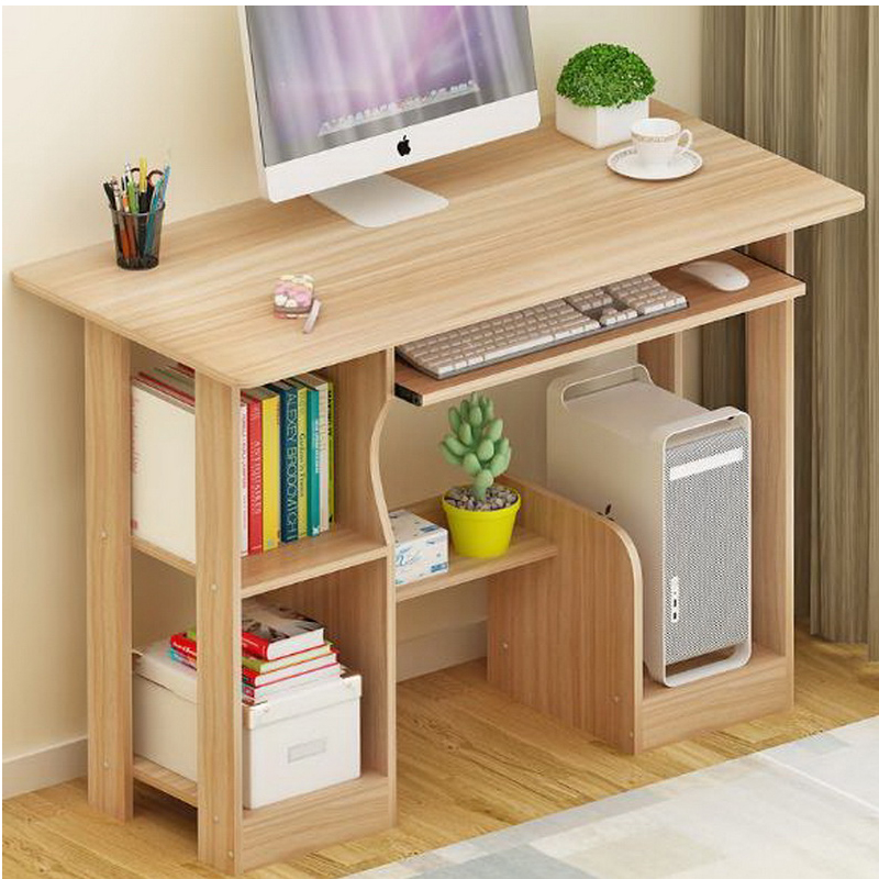 250619 Simple Bookcase Combination Table Computer Desk And
