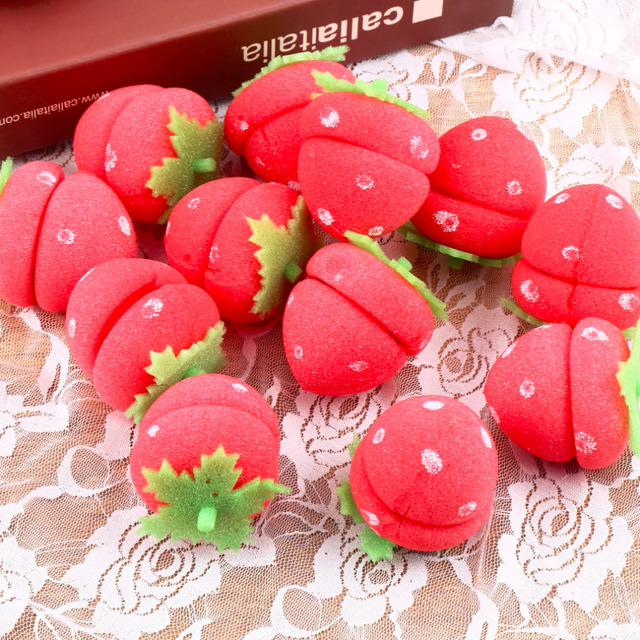 Strawberry Shaped Curlers Set