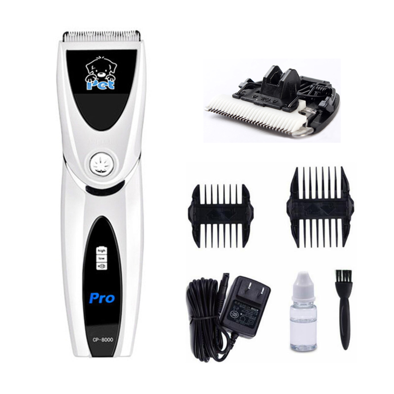 CP-8000 Dog Hair Trimmer Pet Hair Clippers Pets Dogs Ceramic Blades Haircut Shaver Machine for Cats Animals Hair ClipperCP-8000 Dog Hair Trimmer Pet Hair Clippers Pets Dogs Ceramic Blades Haircut Shaver Machine for Cats Animals Hair Clipper