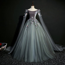 Настоящее темно-серое бальное платье для коронации 18 века, средневековое платье, платье Ренессанса, бальное платье королевы викторианской красавицы